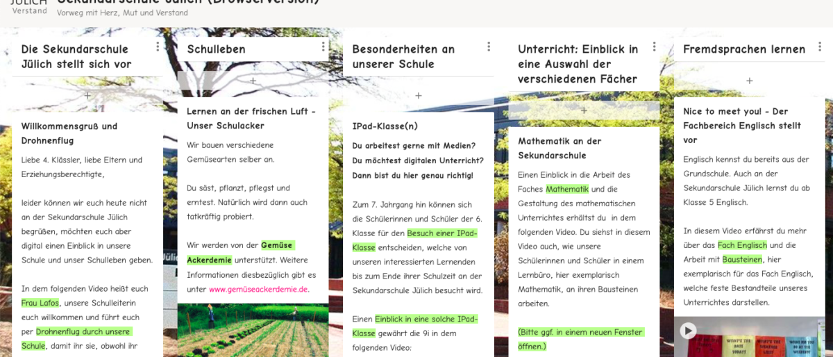 """Permalink zu:""""Infotag digital"""" – Herzlich Willkommen an der Sekundarschule Jülich!"""
